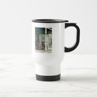 Wooden Rocking Chairs on Porch Coffee Mug
