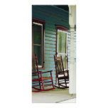 Wooden Rocking Chairs on Porch Rack Cards
