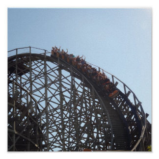 Wooden Roller Coaster 12X12 Poster