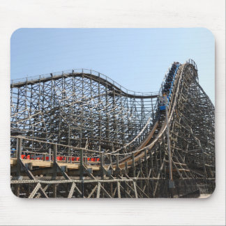 Wooden Roller Coaster Mouse Pad