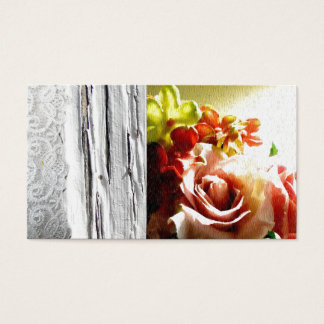Wooden Rose Lace Country Western Business Cards