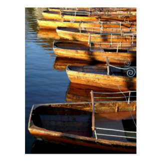 Wooden Row Boats on Derwentwater Post Cards
