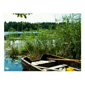 Wooden Rowing Boat Postcard