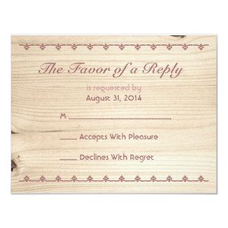 Wooden RSVP Card