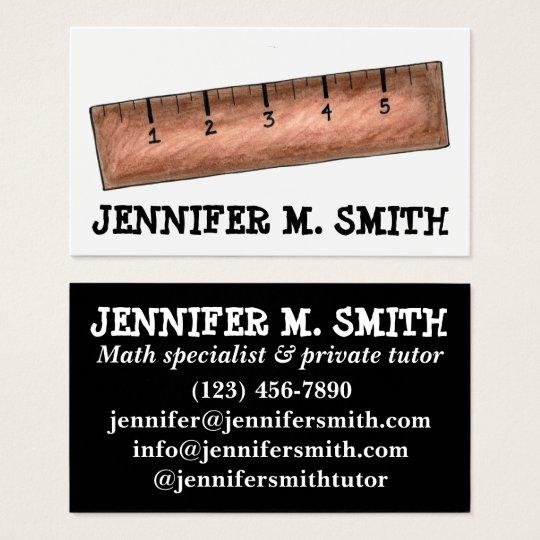 Wooden ruler math teacher tutor mathematics school business card wooden ruler math teacher tutor mathematics school business card colourmoves