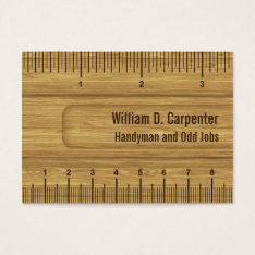 Wooden Ruler Or Rule Builder Or Carpenter Business Card at Zazzle