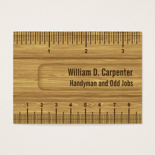 Wooden ruler or rule builder or carpenter business card zazzle wooden ruler or rule builder or carpenter business card colourmoves