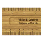 Wooden Ruler or Rule Tradesman Business Card