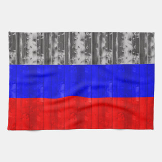 Wooden Russian Flag Towel