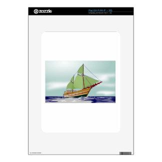Wooden Sailboat iPad Decal