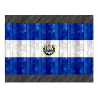 Wooden Salvadoran Flag Postcard