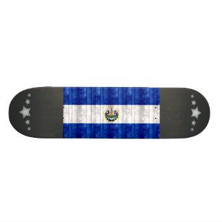 Wooden Salvadoran Flag Skate Boards