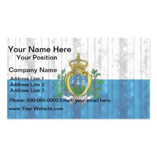 Wooden Sammarinese Flag Business Card