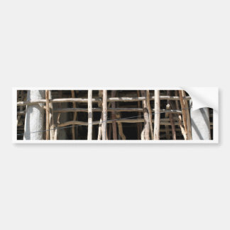 Wooden Scaffold Bumper Sticker