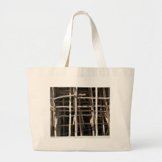 Wooden Scaffold Large Tote Bag