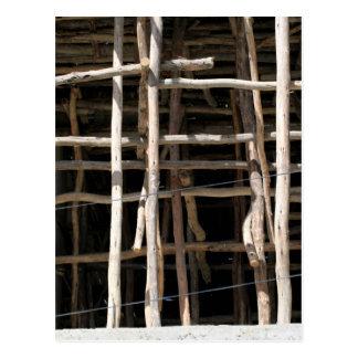 Wooden Scaffold Postcard