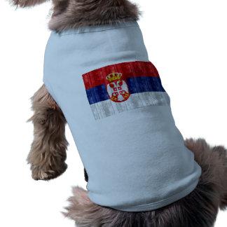Wooden Serbian Flag Dog Tshirt
