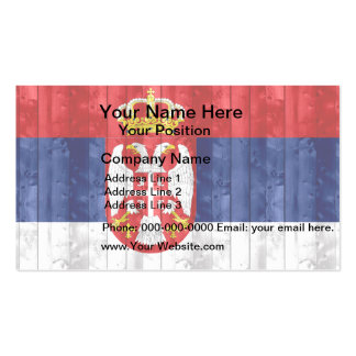 Wooden Serbian Flag Double-Sided Standard Business Cards (Pack Of 100)