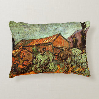 Wooden Sheds, a Van Gogh painting Decorative Pillow