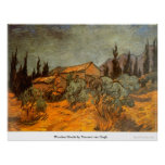Wooden Sheds by Vincent van Gogh Print