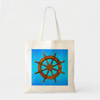 Wooden Ship Wheel Bags