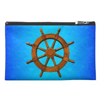 Wooden Ship Wheel Travel Accessory Bag