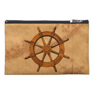 Wooden Ship Wheel Travel Accessories Bag