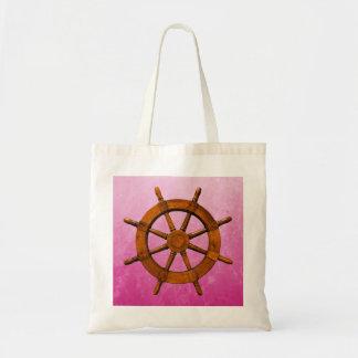 Wooden Ship Wheel Canvas Bag