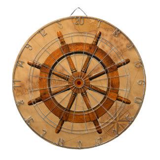 Wooden Ship Wheel Dartboard