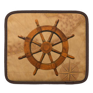 Wooden Ship Wheel Sleeve For iPads