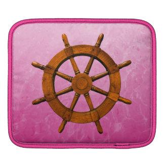 Wooden Ship Wheel iPad Sleeve