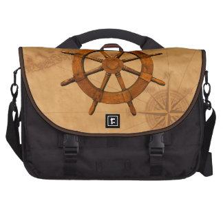 Wooden Ship Wheel Bag For Laptop