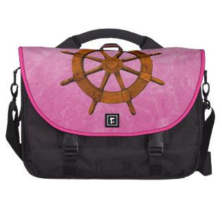 Wooden Ship Wheel Laptop Bag