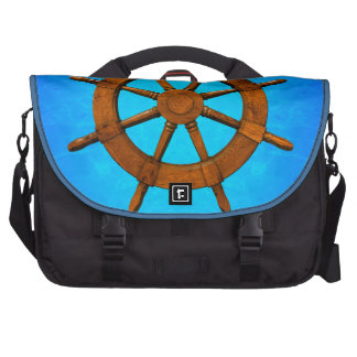 Wooden Ship Wheel Bags For Laptop