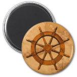 Wooden Ship Wheel Magnet