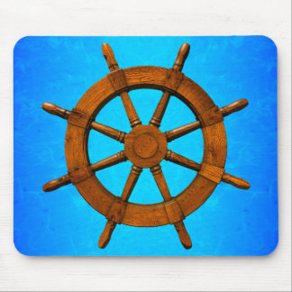 Wooden Ship Wheel Mouse Pad