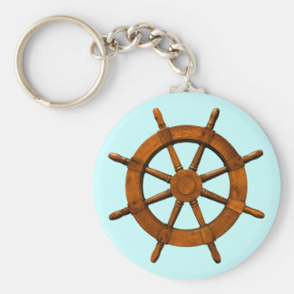 Wooden Ships Helm Keychain