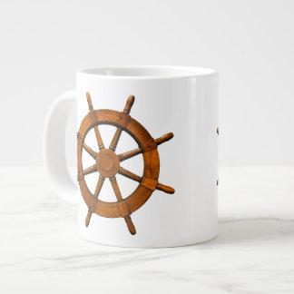 Wooden Ships Helm Jumbo Mugs