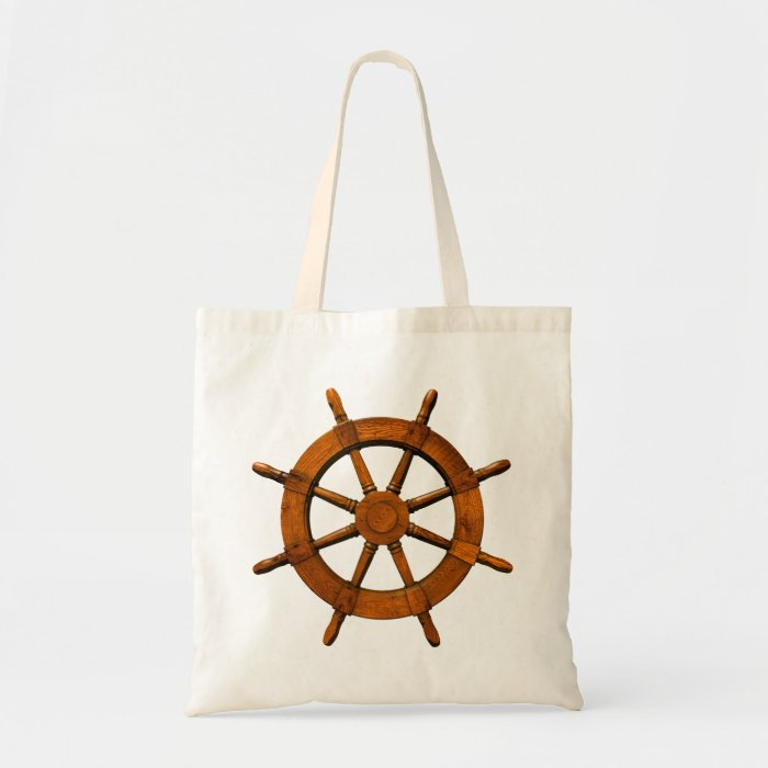 Wooden Ships Helm Tote Bag