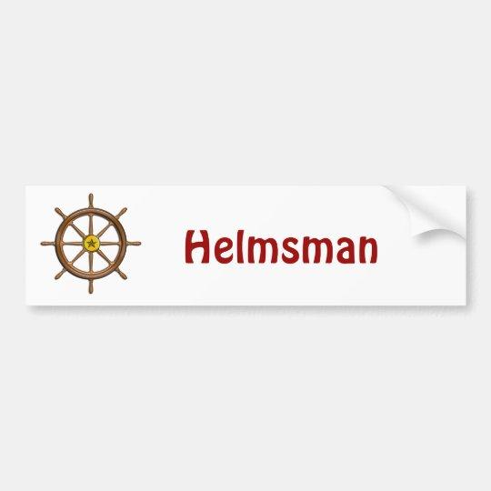 Wooden Ship's Wheel Bumper Sticker
