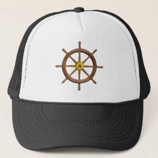 Wooden Ship's Wheel Trucker Hat