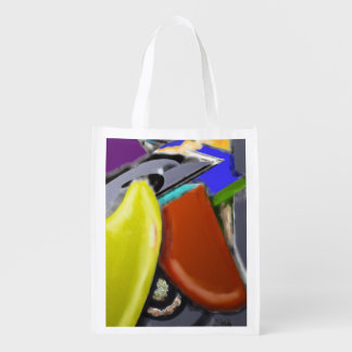 Wooden Shoes - Cheerful Abstract Design Market Tote