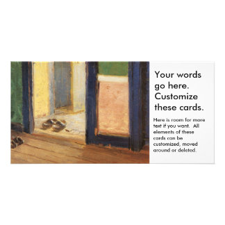 Wooden shoes Dutch art by impressionist Ancher Card