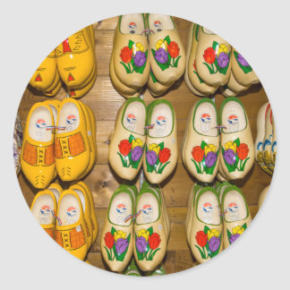 Wooden Shoes, Dutch Village Shop, Noordhuizen Classic Round Sticker