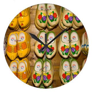 Wooden Shoes, Dutch Village Shop, Noordhuizen Large Clock
