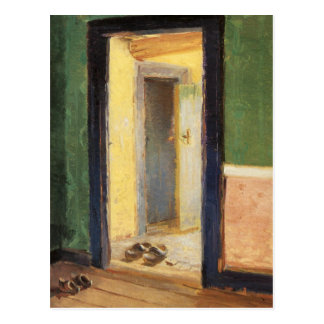 Wooden shoes impressionist painting by Anna Ancher Postcard