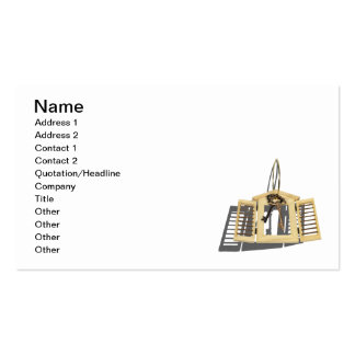 Wooden Shutter Keys on Ring Double-Sided Standard Business Cards (Pack Of 100)