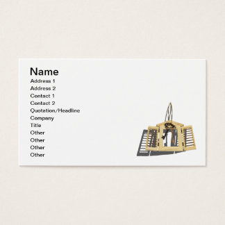 Wooden Shutter Keys on Ring Business Card