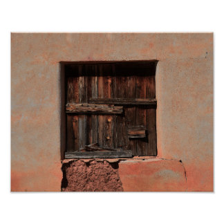 Wooden Shutters in Adobe House Poster