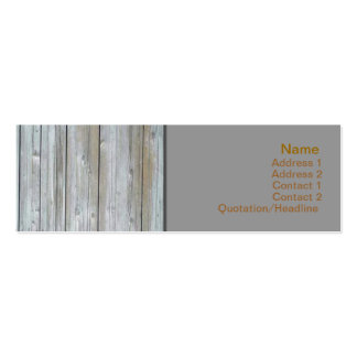 Wooden Siding Business Card